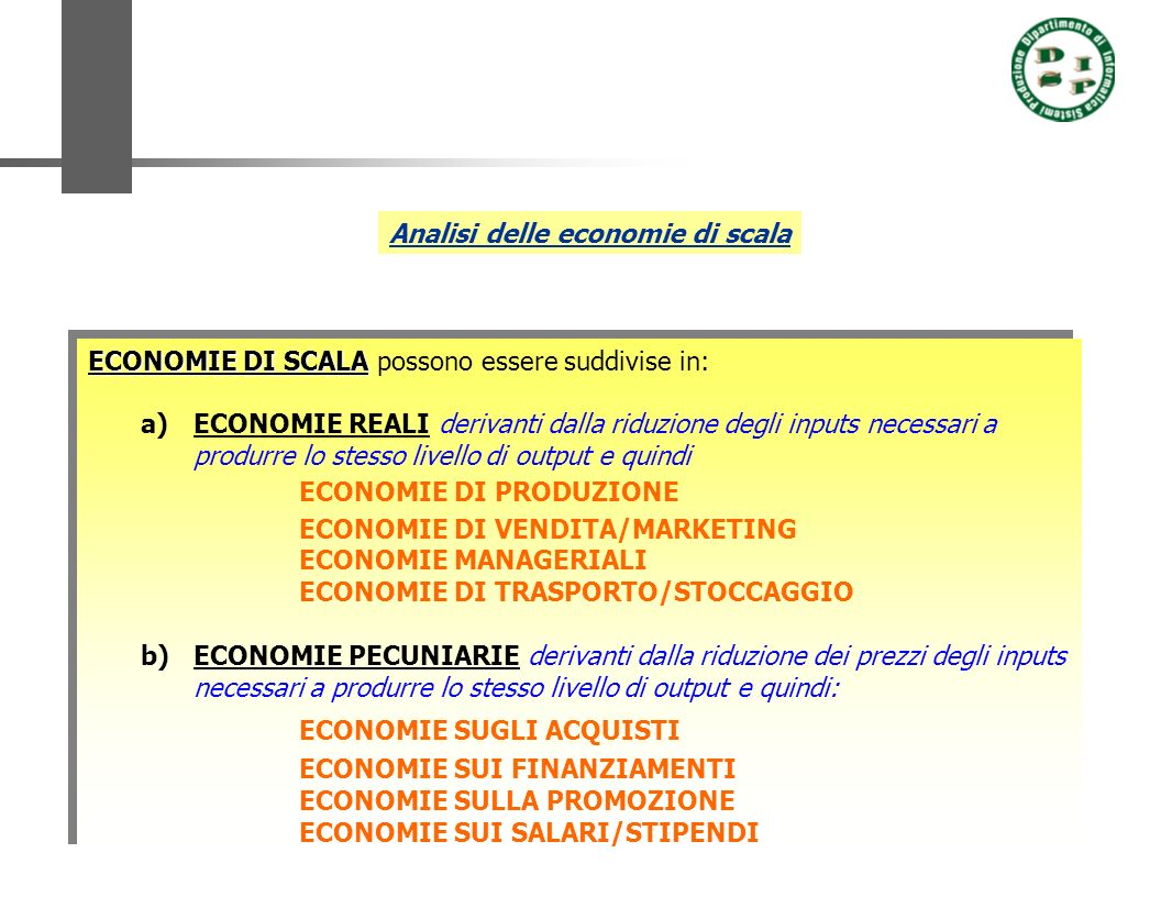 Analisi delle economie di scala