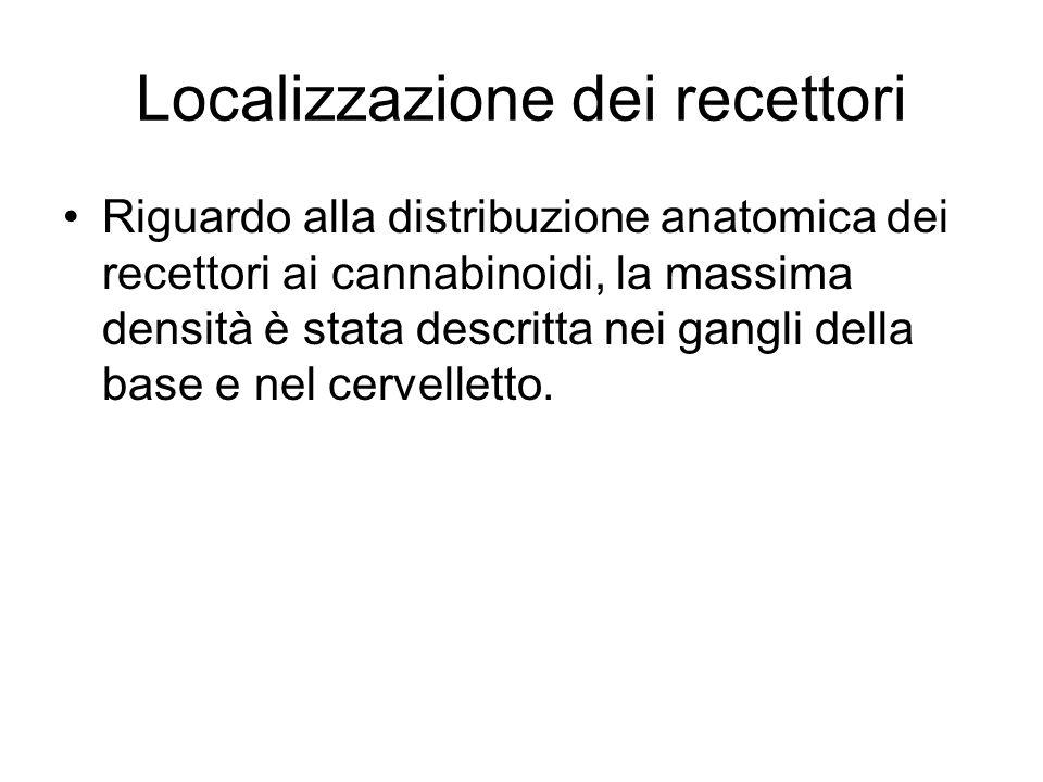 Localizzazione dei recettori