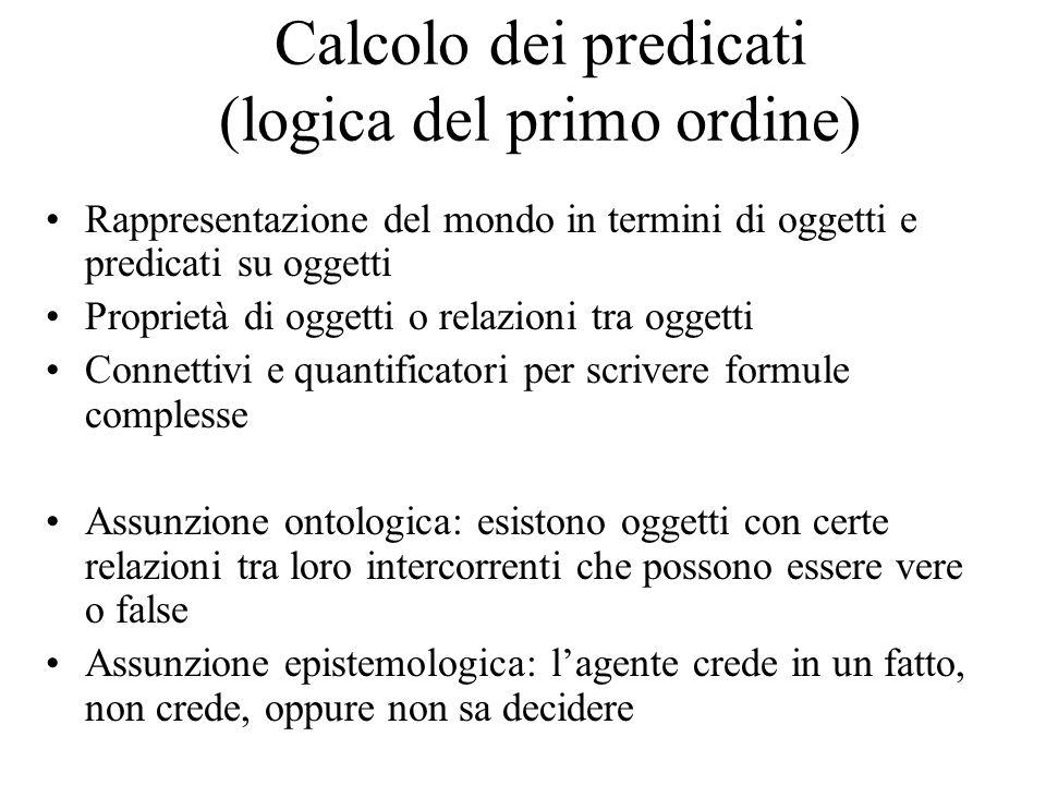 Calcolo dei predicati (logica del primo ordine)