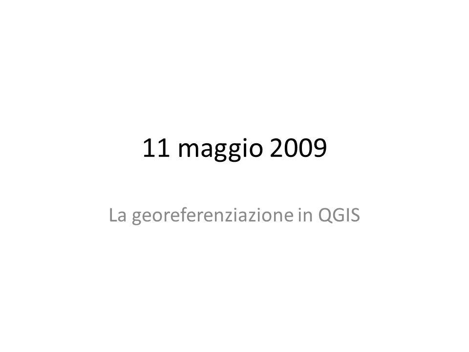 La georeferenziazione in QGIS