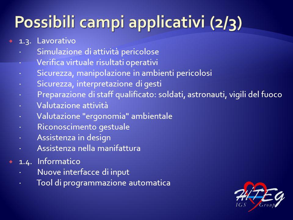 Possibili campi applicativi (2/3)