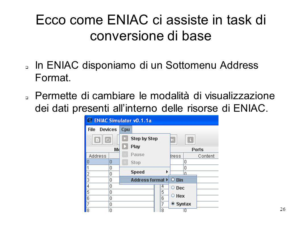 Ecco come ENIAC ci assiste in task di conversione di base