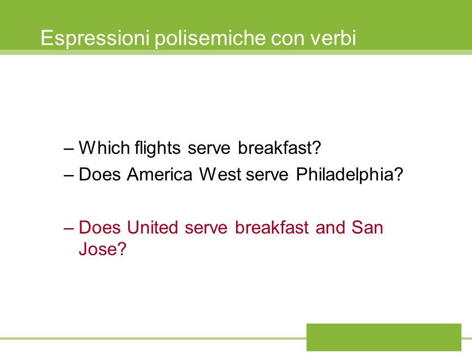 Espressioni polisemiche con verbi