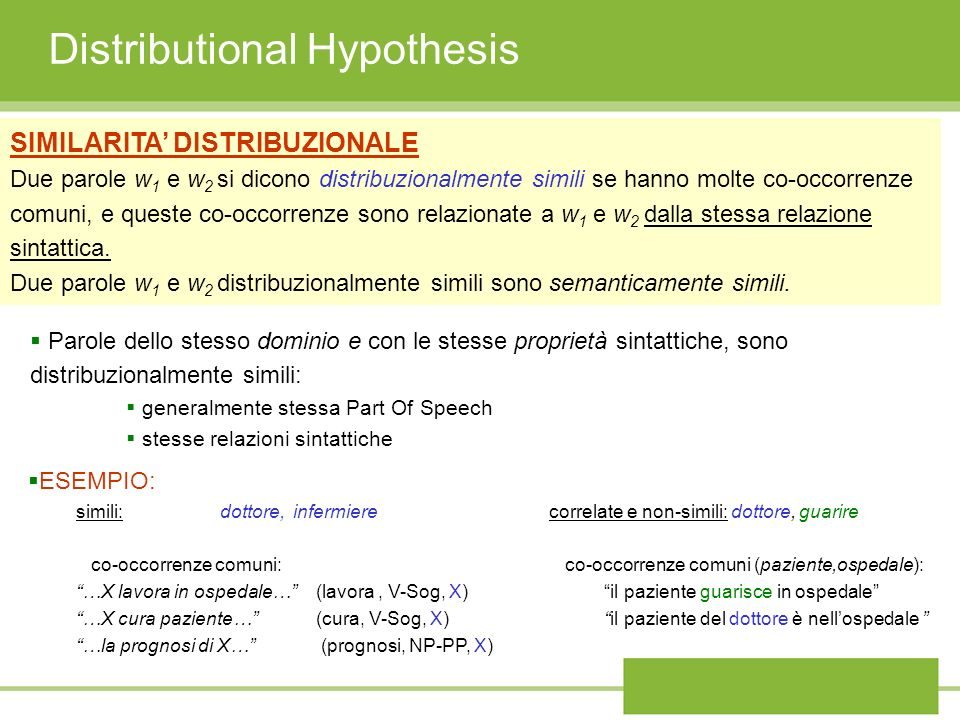 Distributional Hypothesis