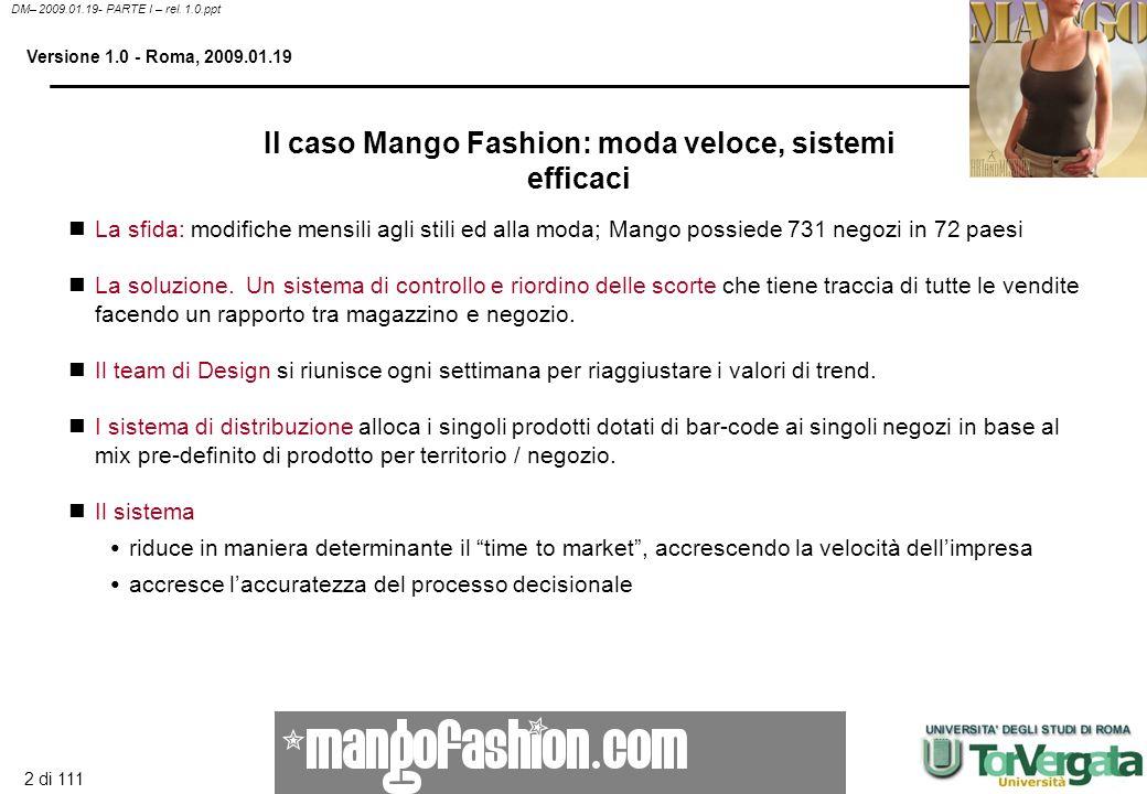 Il caso Mango Fashion: moda veloce, sistemi efficaci