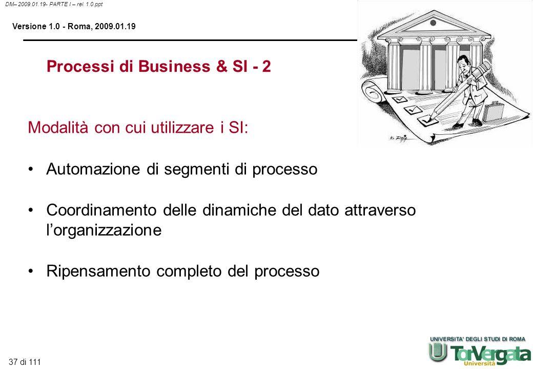 Processi di Business & SI - 2