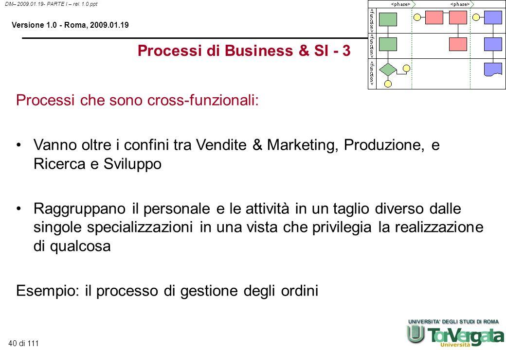 Processi di Business & SI - 3