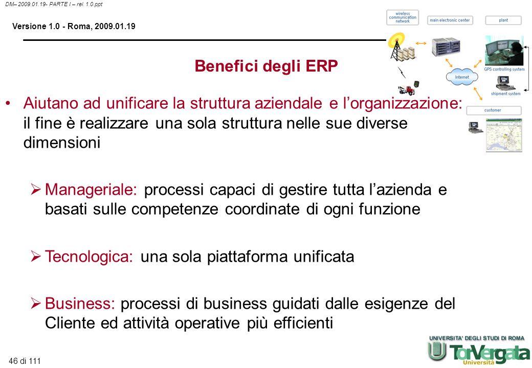Benefici degli ERP