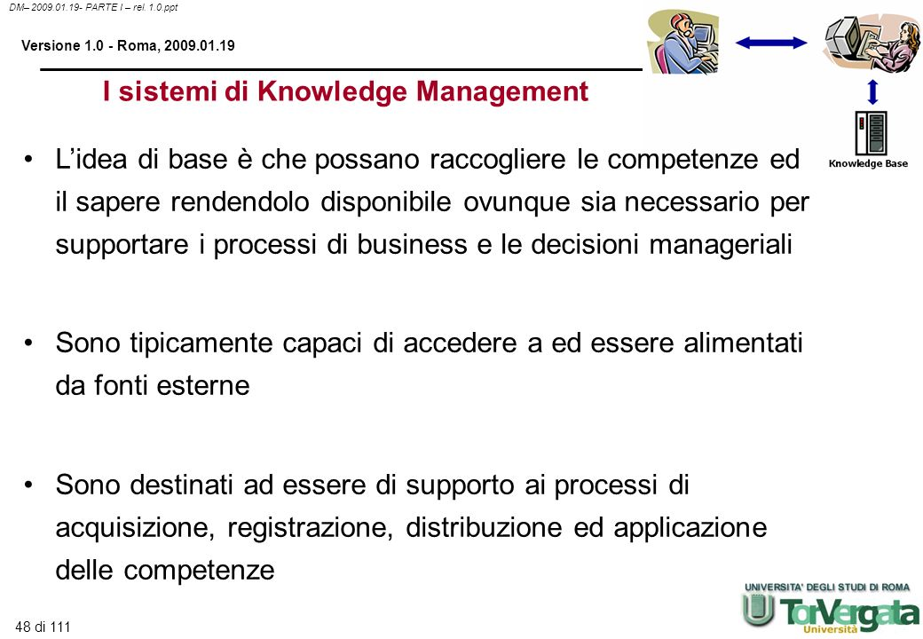 I sistemi di Knowledge Management