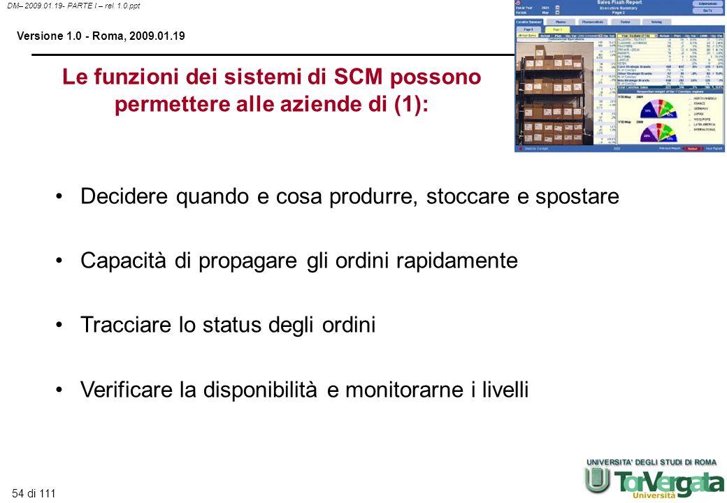 Le funzioni dei sistemi di SCM possono permettere alle aziende di (1):
