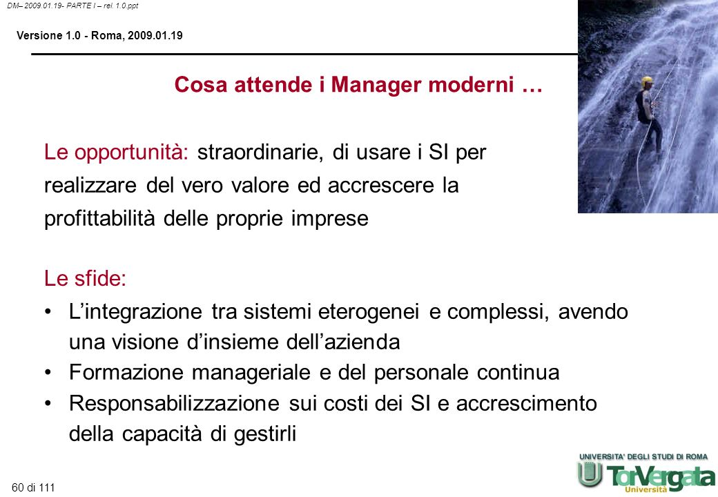 Cosa attende i Manager moderni …