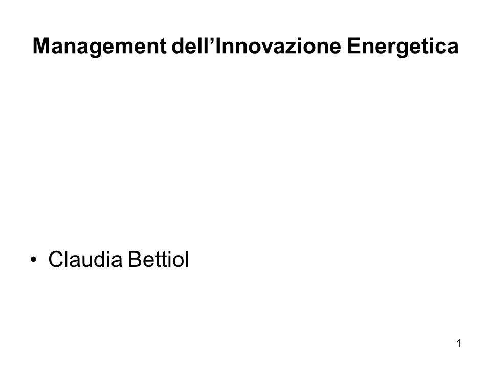 Management dell'Innovazione Energetica