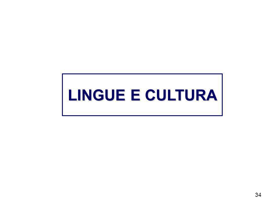 LINGUE E CULTURA