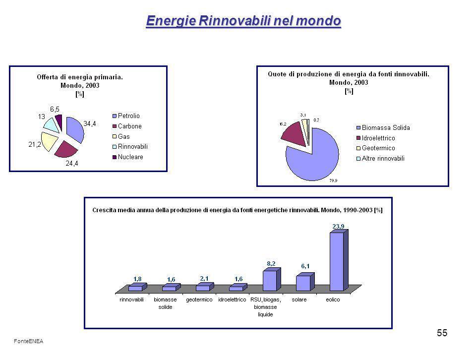 Energie Rinnovabili nel mondo