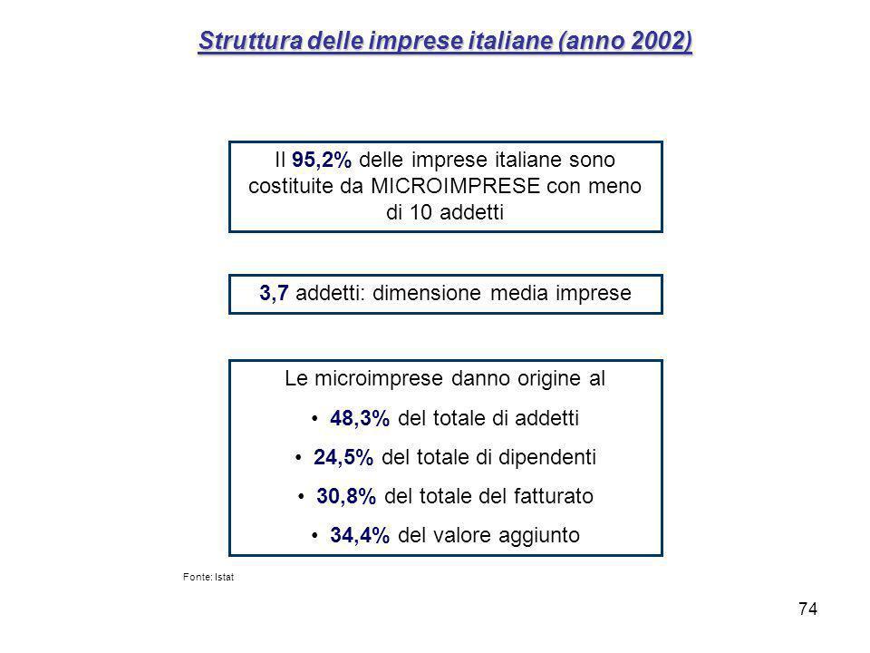 Struttura delle imprese italiane (anno 2002)