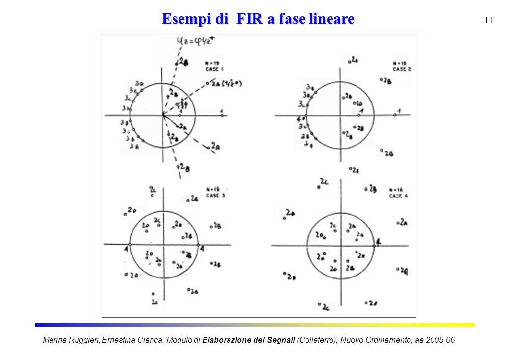 Esempi di FIR a fase lineare