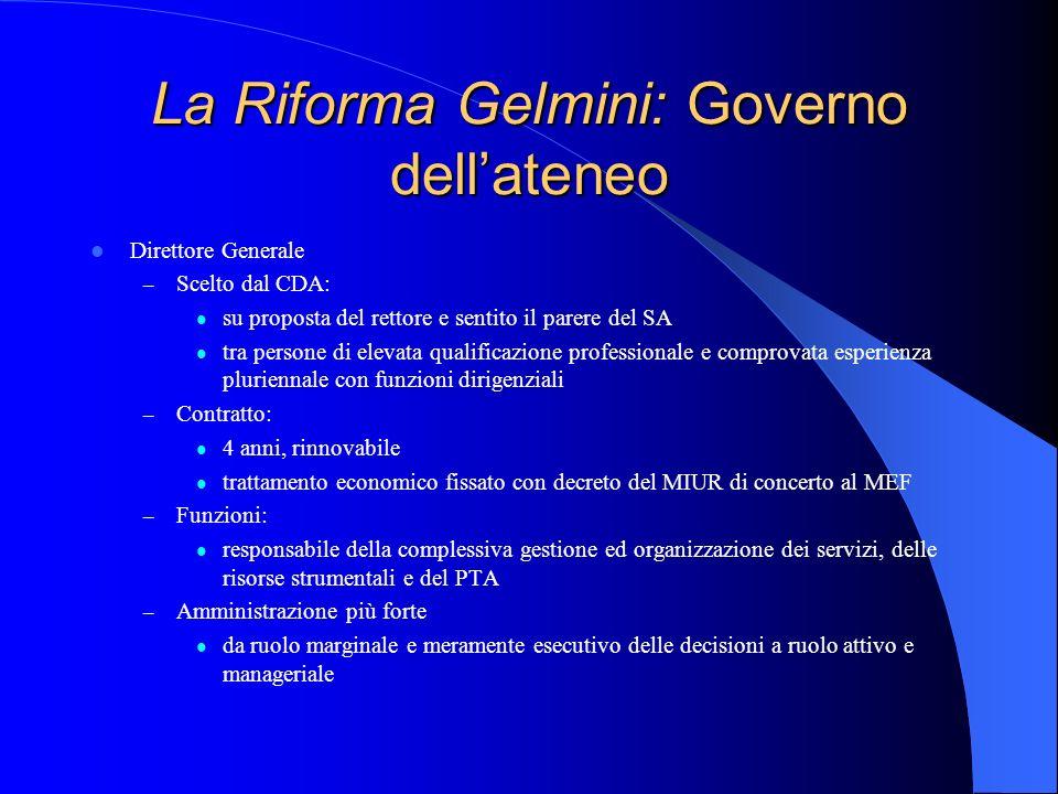 La Riforma Gelmini: Governo dell'ateneo