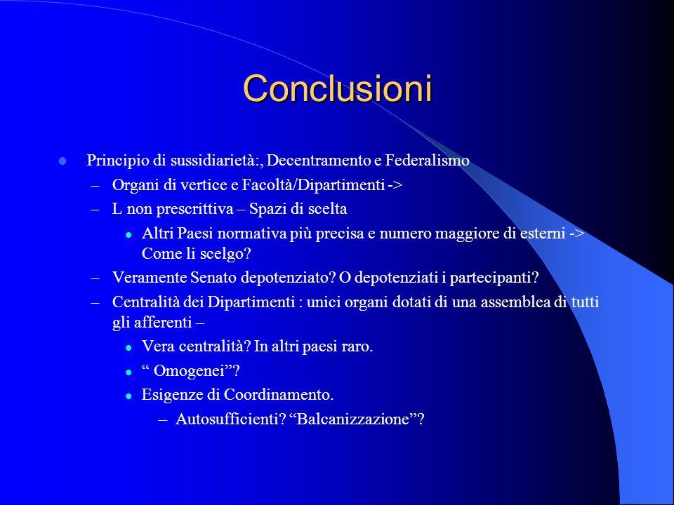 Conclusioni Principio di sussidiarietà:, Decentramento e Federalismo