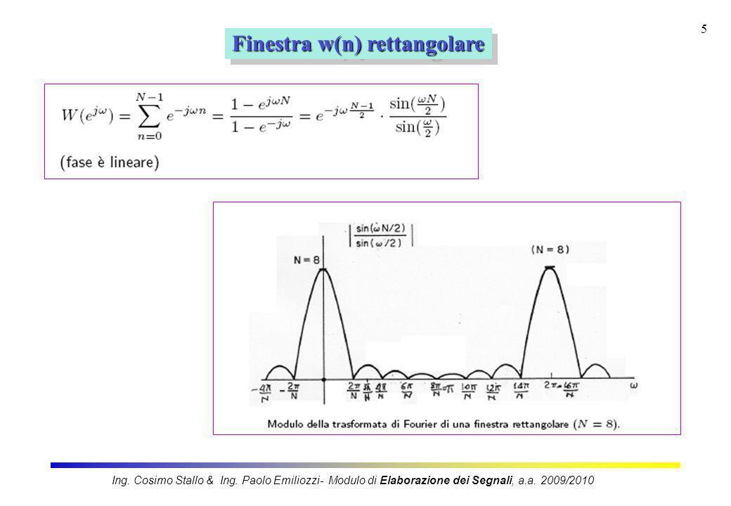 Finestra w(n) rettangolare