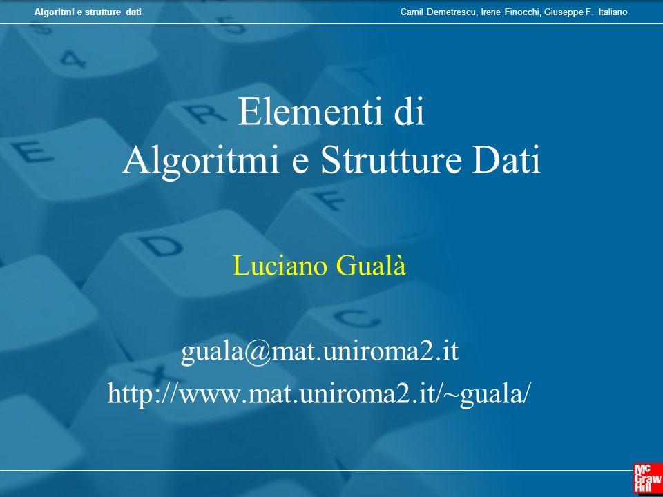 Elementi di Algoritmi e Strutture Dati