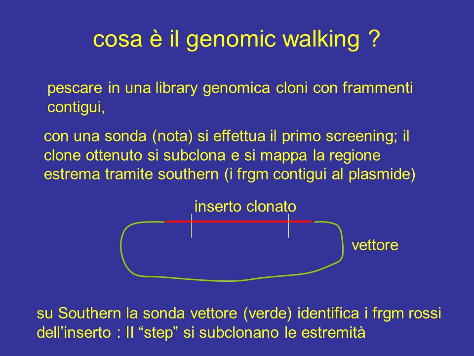 cosa è il genomic walking