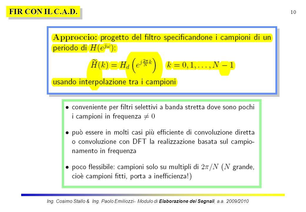 FIR CON IL C.A.D.Ing.Cosimo Stallo & Ing.