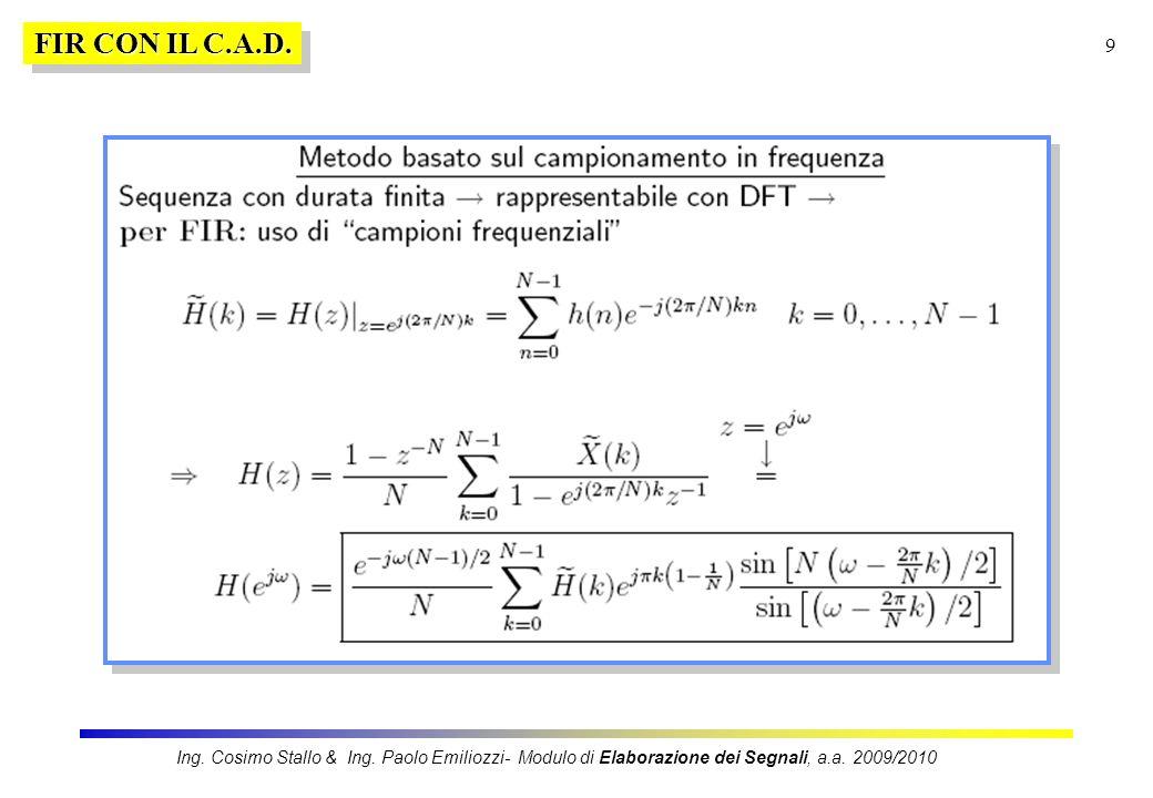 FIR CON IL C.A.D. Ing. Cosimo Stallo & Ing.