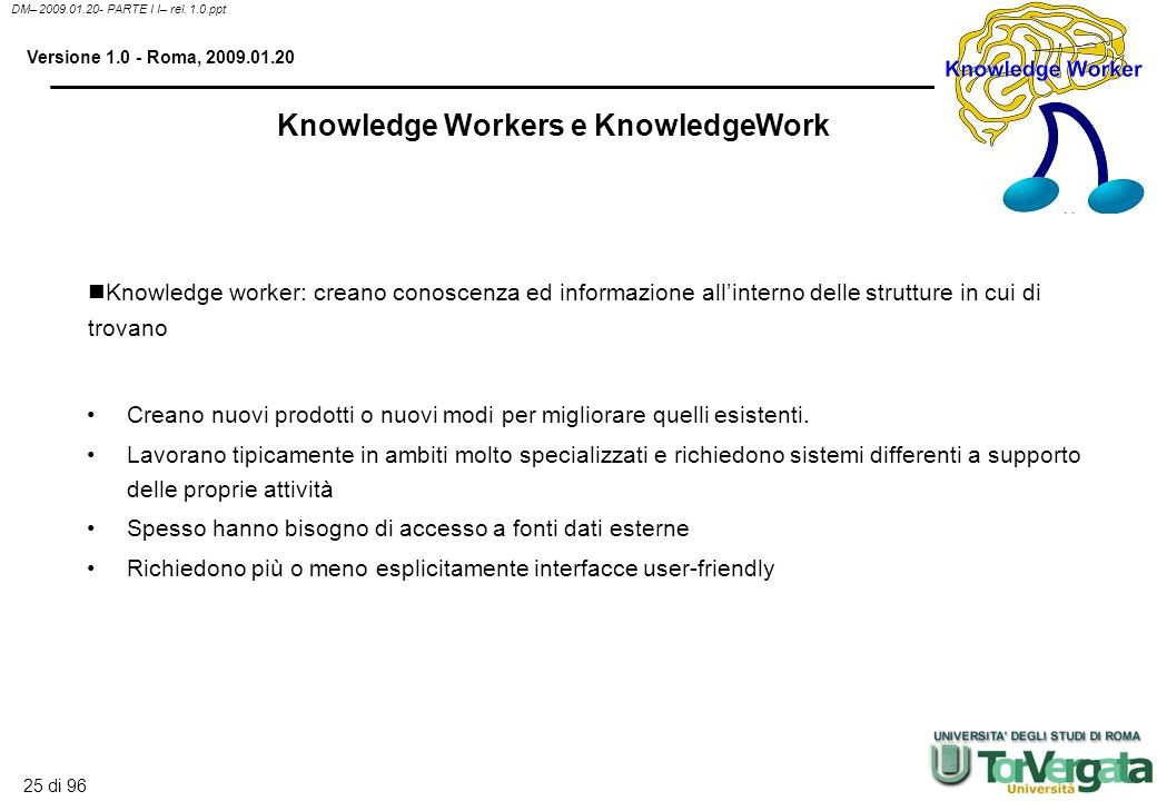 Knowledge Workers e KnowledgeWork