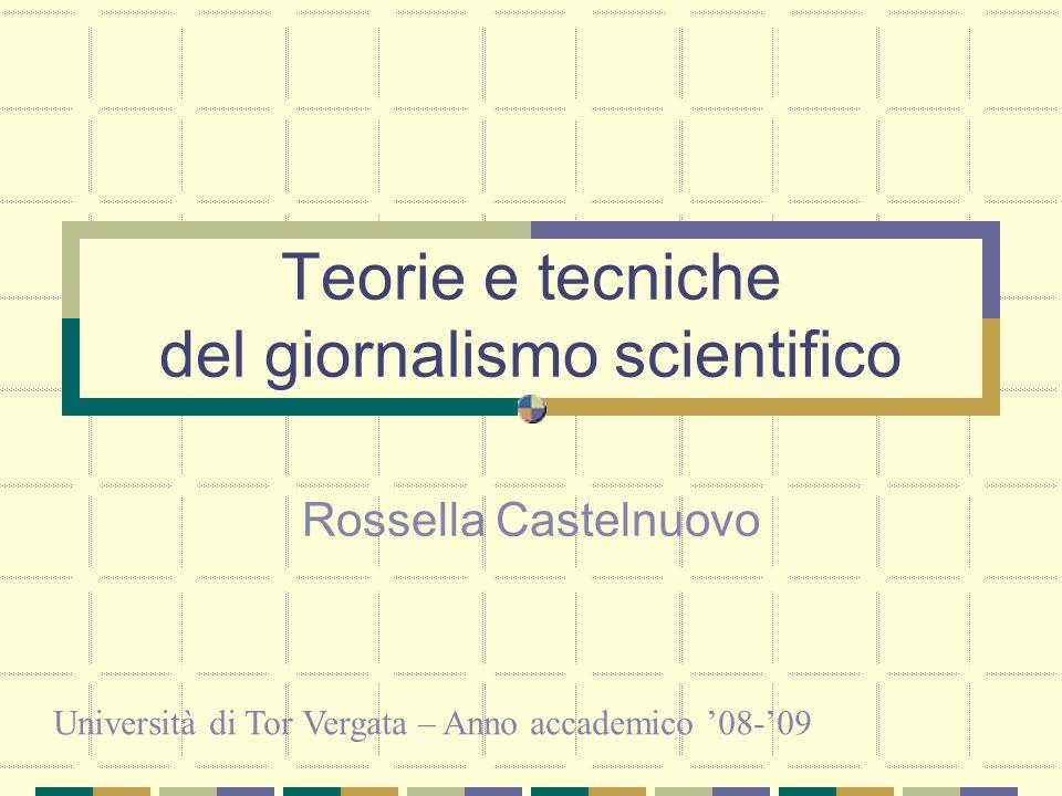 Teorie e tecniche del giornalismo scientifico