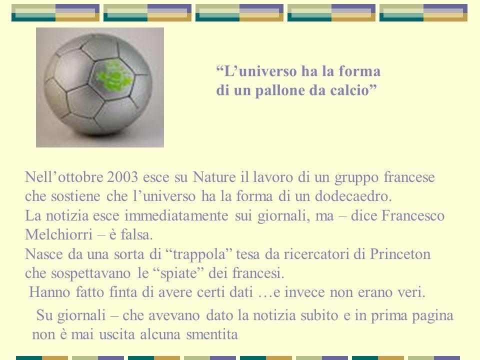 L'universo ha la forma di un pallone da calcio