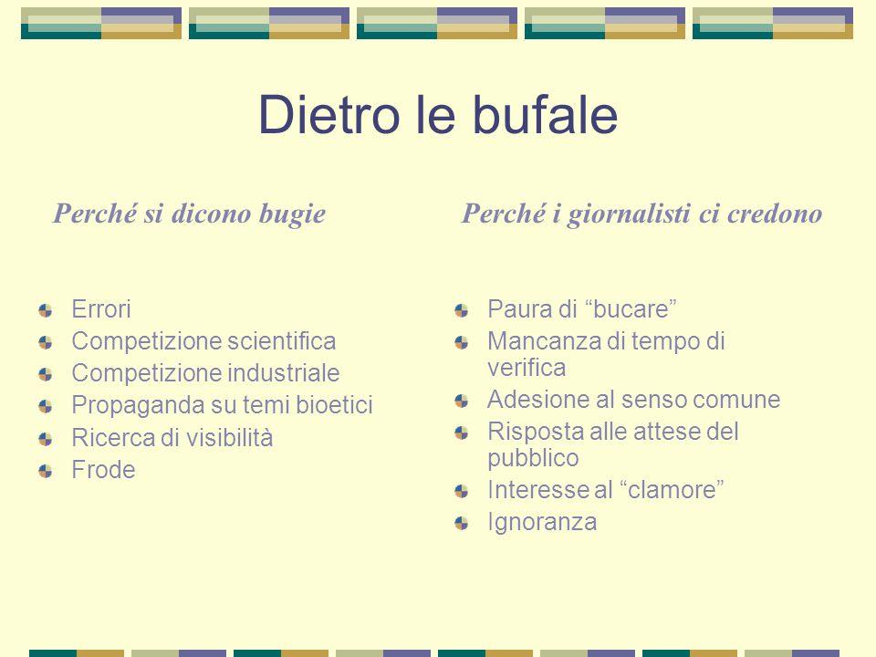 Dietro le bufale Perché si dicono bugie