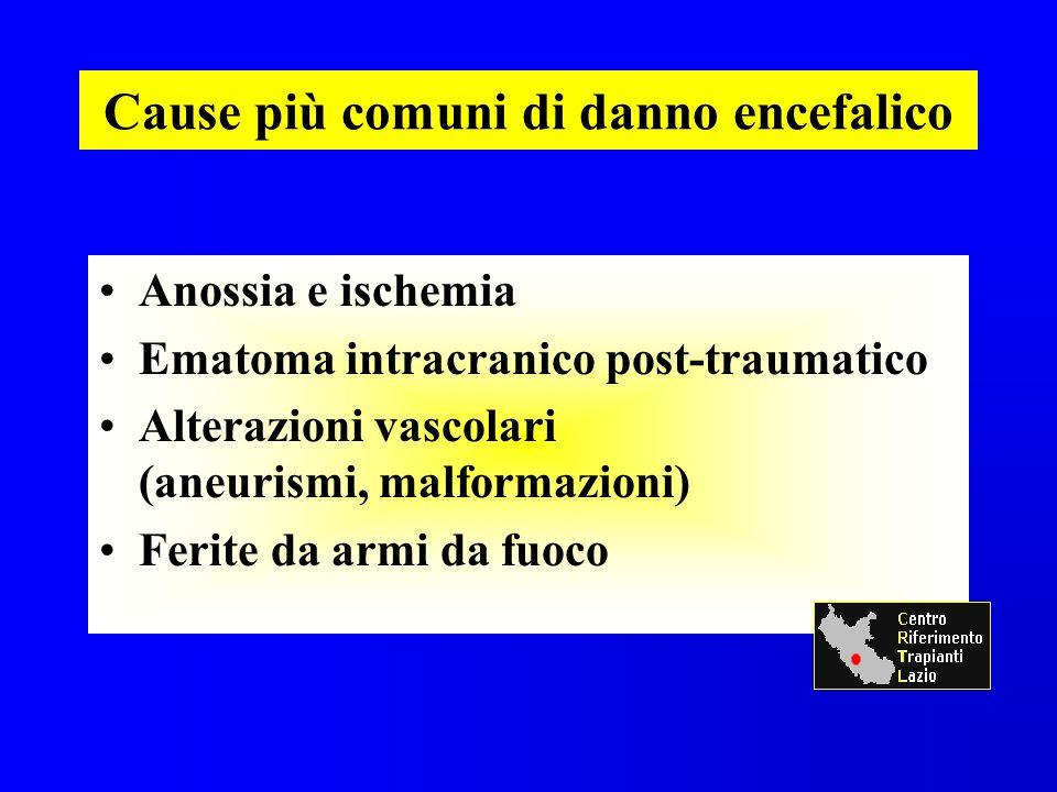 Cause più comuni di danno encefalico