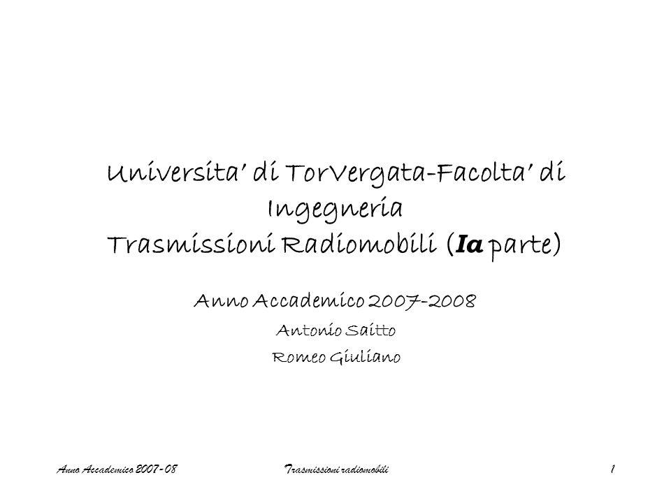 Anno Accademico 2007-2008 Antonio Saitto Romeo Giuliano