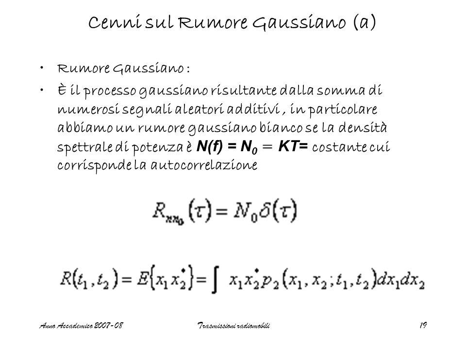 Cenni sul Rumore Gaussiano (a)