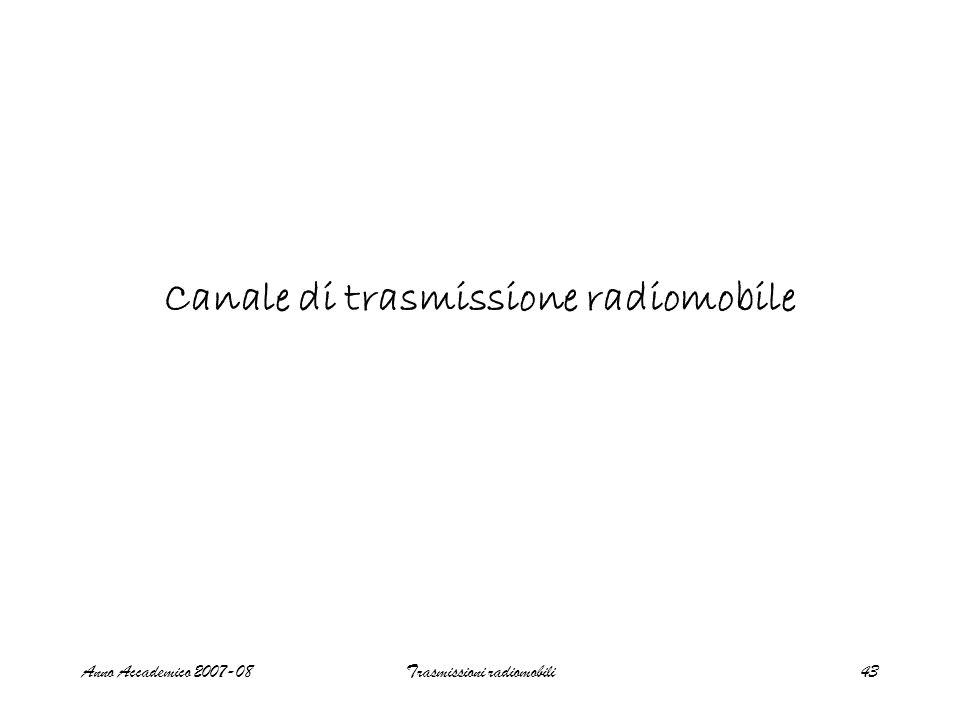 Canale di trasmissione radiomobile