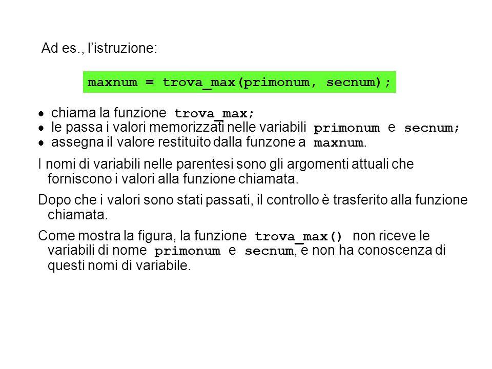 maxnum = trova_max(primonum, secnum);