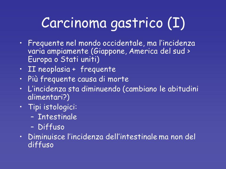 Carcinoma gastrico (I)