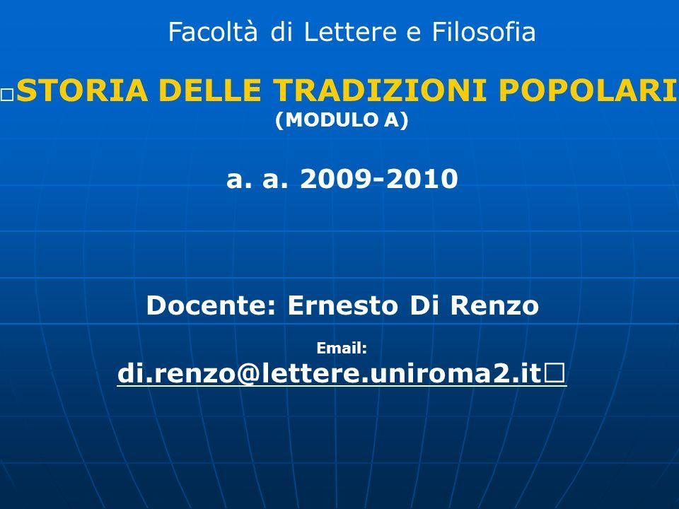 Docente: Ernesto Di Renzo