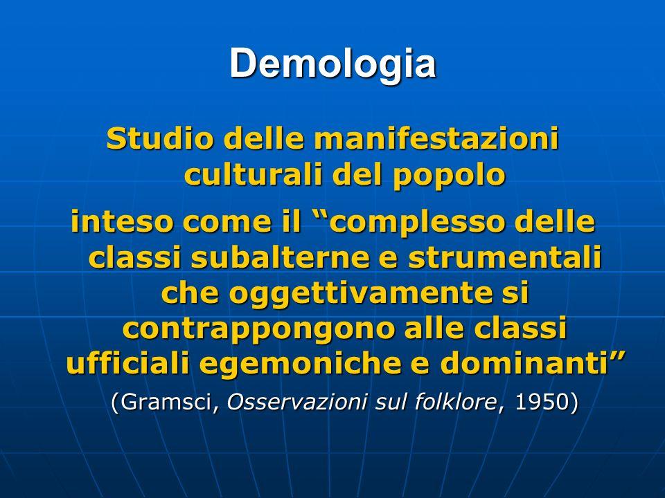 Studio delle manifestazioni culturali del popolo