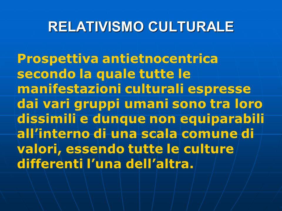 RELATIVISMO CULTURALE