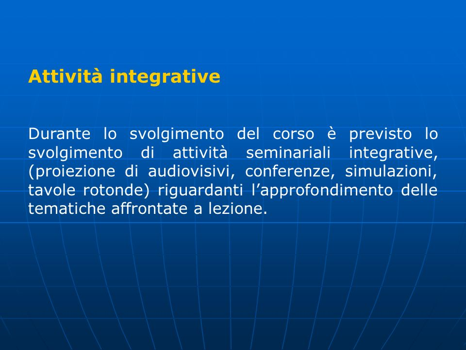 Attività integrative