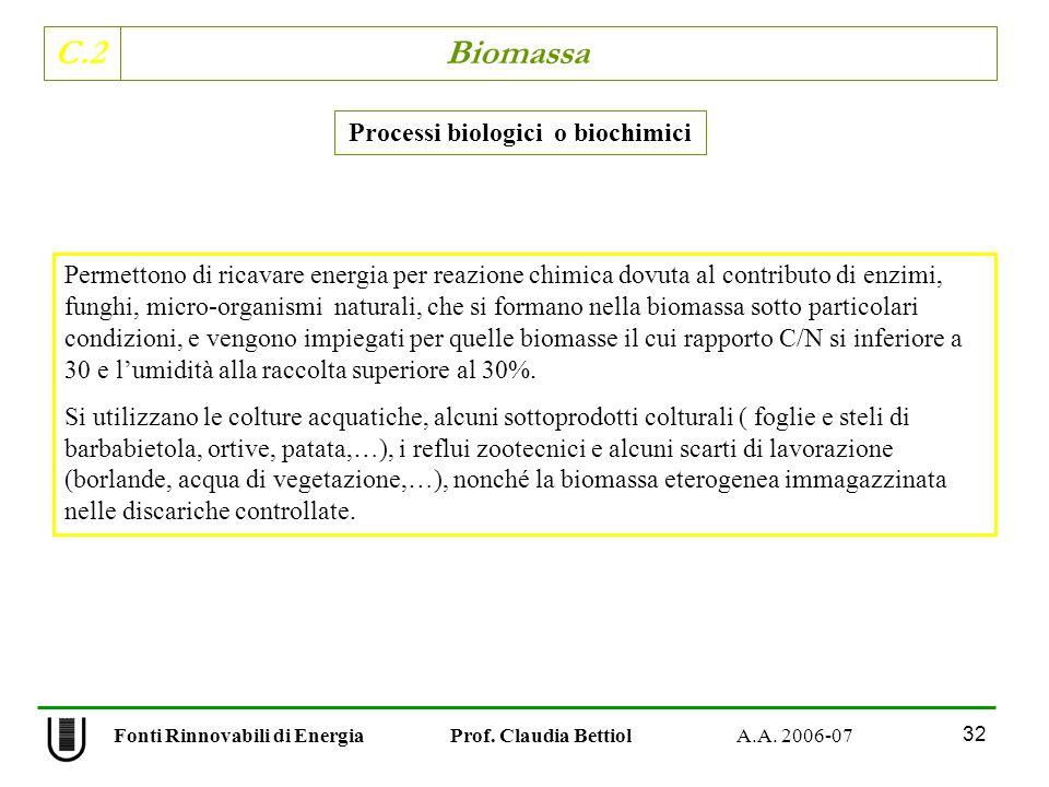 Processi biologici o biochimici