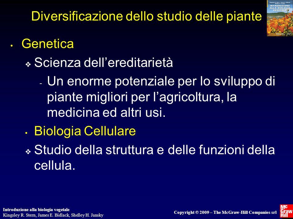 Diversificazione dello studio delle piante