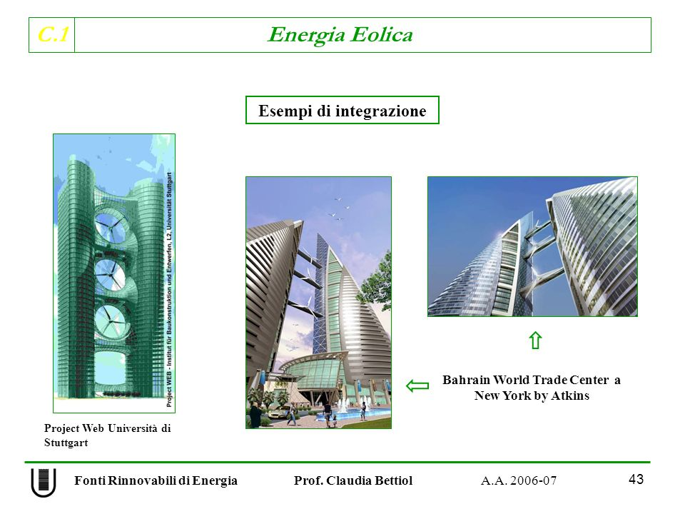 Esempi di integrazione Bahrain World Trade Center a New York by Atkins