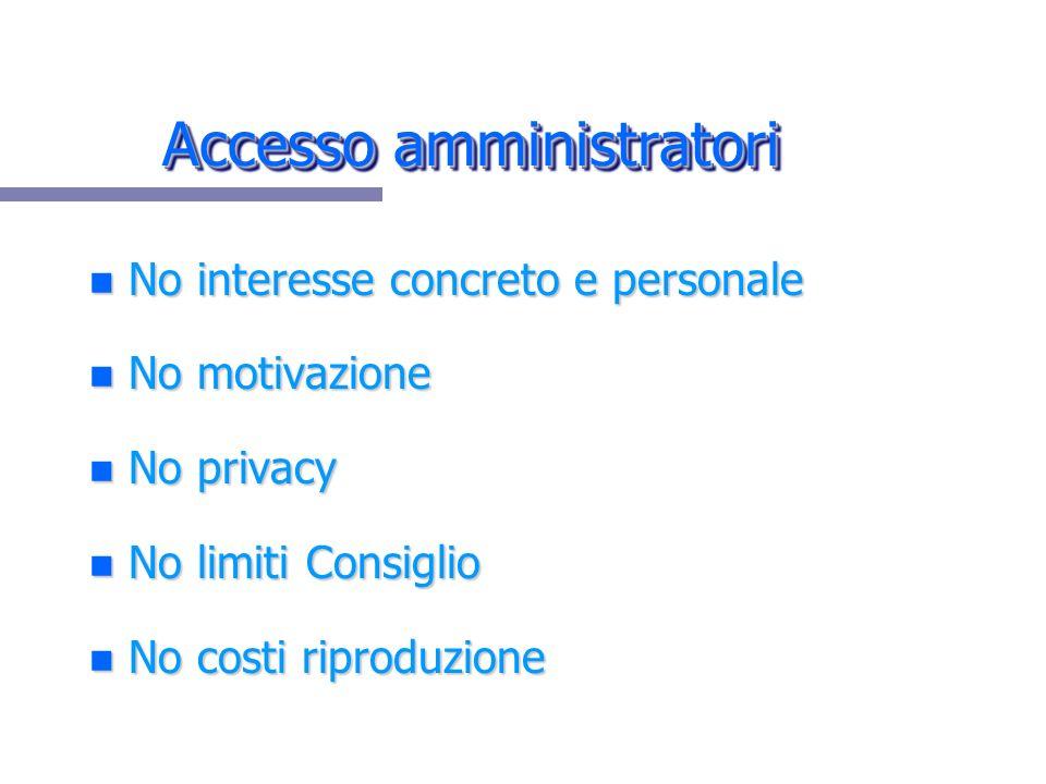 Accesso amministratori