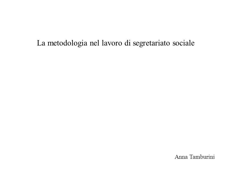 La metodologia nel lavoro di segretariato sociale