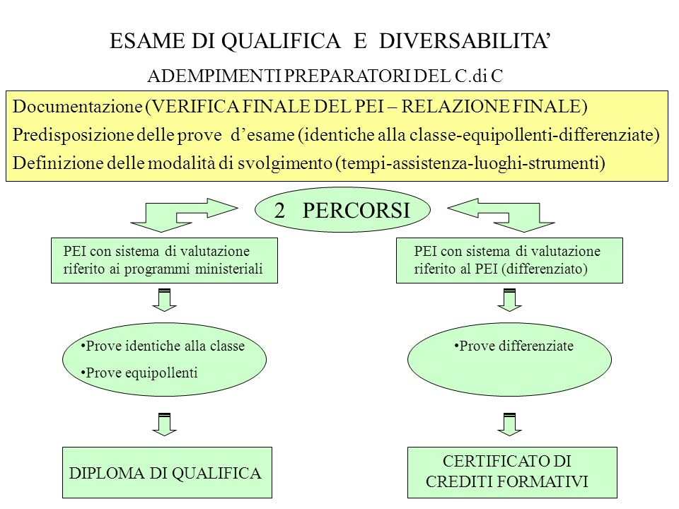 ESAME DI QUALIFICA E DIVERSABILITA'