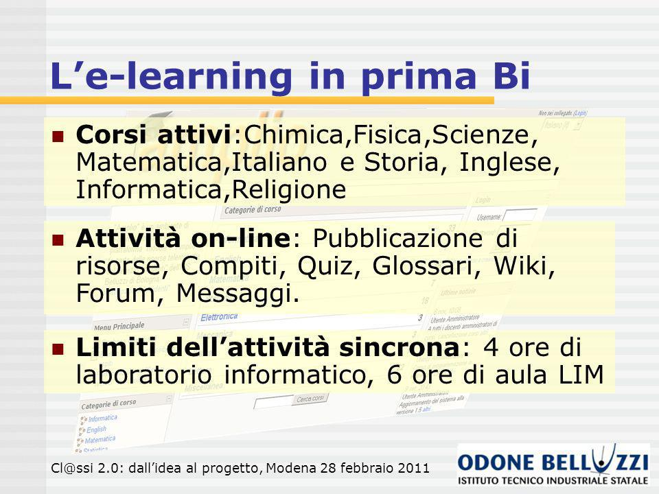 L'e-learning in prima Bi