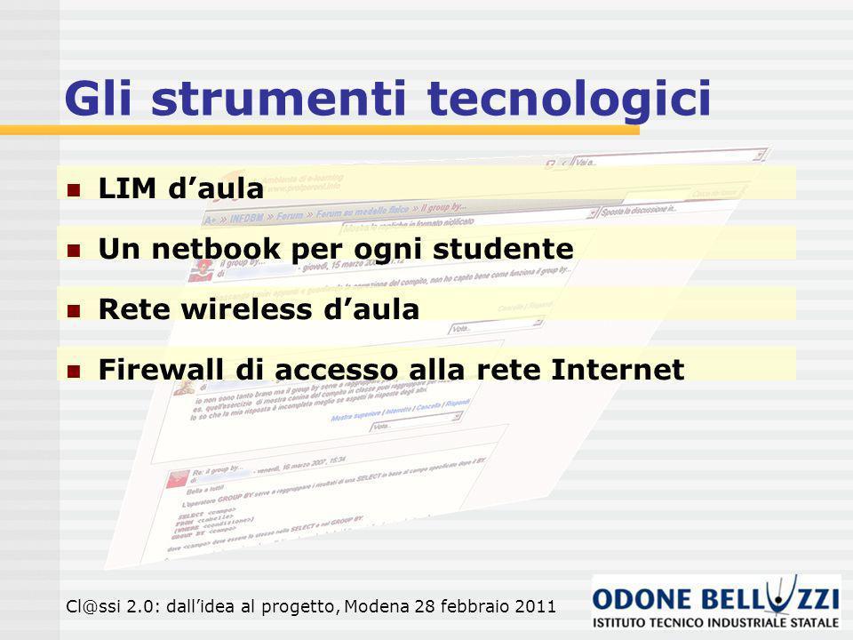 Gli strumenti tecnologici