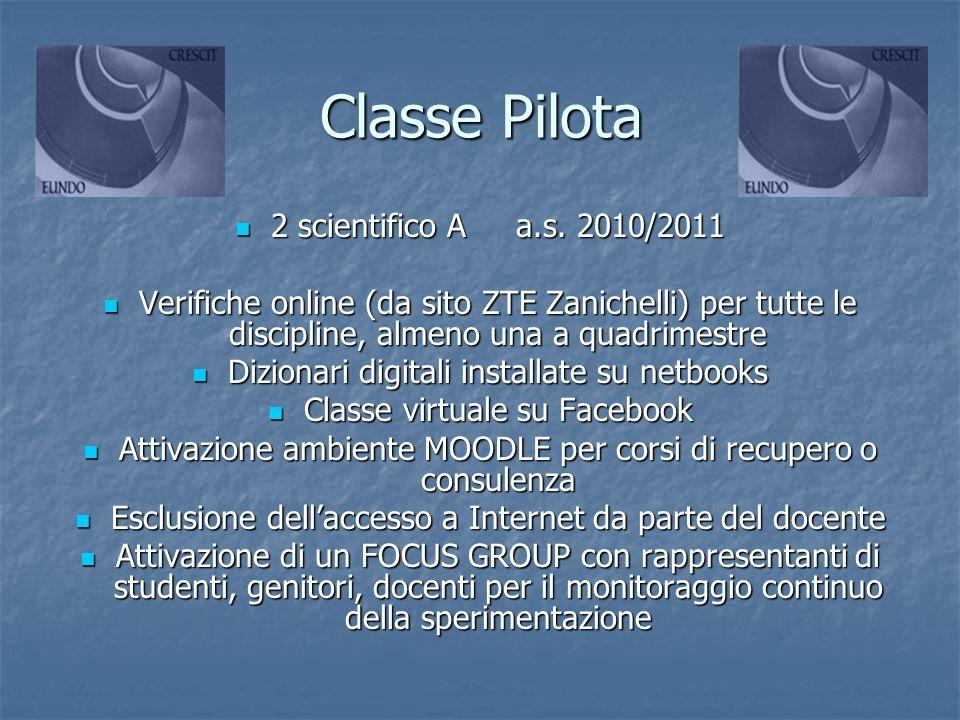 Classe Pilota 2 scientifico A a.s. 2010/2011